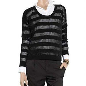 Theory Metallic Stripe Iana Cashmere Blend Sweater
